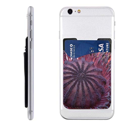 Sticky Cell Phone Card Holder Flowers Stamens and Stamens Phone Cases Card Holder with 3m Adhesive Stick-on Fits iPhone Android Most Smartphones Debit Card Phone Holder Card Holder for Back of Phone