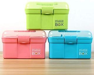 XZHMYYH Medicine box Home medicine cabinet multi-layer plastic storage box portable multi-function emergency box storage box medicine box children (Color : Pink, Size : Big)