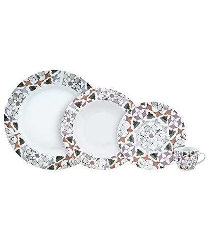Juego de vajilla de porcelana para platos y café, modelo de piel, juego de 24 piezas, porcelana moderna