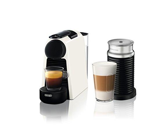 De 'Longhi Essenza Mini en 85.w Cafetera de cápsulas con diferentes Cápsulas Nespresso, 0.6L, 1255W, 19bar, Pure Color Blanco