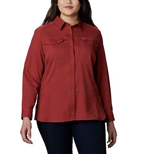Columbia Silver Ridge Lite Long Sleeve Shirt Camiseta para Senderismo, Negro, S para Mujer