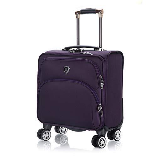 Lxmhz rollen trolley case mobiele laptoptas business trolley met laptopvak aantal sloten koffer met 4 wielen, 3