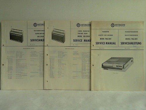 3 Service-Anleitungen für Radio-Geräte und Kassettenrekorder