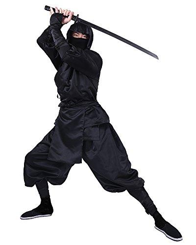 Cosplay.fm Men's Black Ninja Halloween Costume (L)