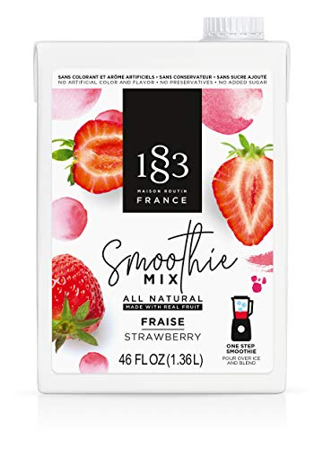 1883 Maison Routin - Strawberry Smoothie Mix, All-Natural, Made with Real Fruit, No Added Sugar, One Step Mix - Made in France (46 oz)