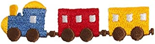 Craft Factory Iron or Sew On Fabric Motif Applique Train - each