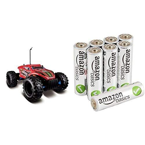 Maisto R/C Rock Crawler Extreme Radio Control Vehicle in Frustration-Free Packaging with Amazon Basics AA Batteries Bundle