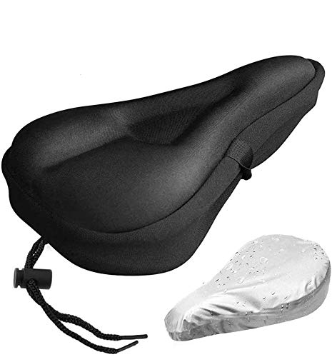 Gel Bike Seat Cover- Extra Soft Gel Bicycle Seat - Bike Saddle Cushion with Water&Dust Resistant Cover