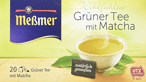 Meßmer Grüner Tee mit Matcha, 20 Beutel, 10er Pack (10 x 30 g)