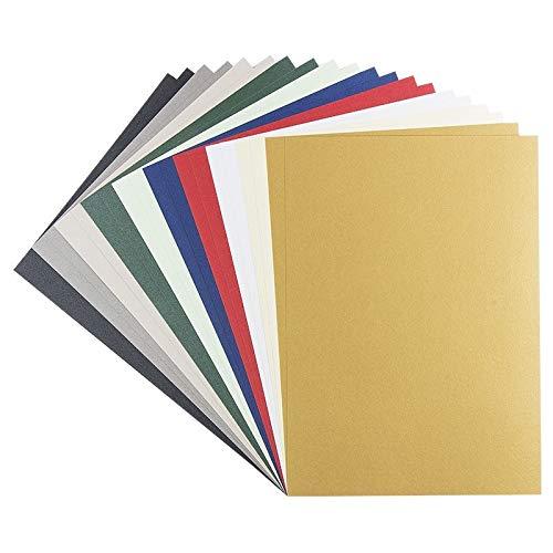 Cartulina con efecto nacarado, DIN A4, 250 g/m², 10 colores diferentes, 20 unidades