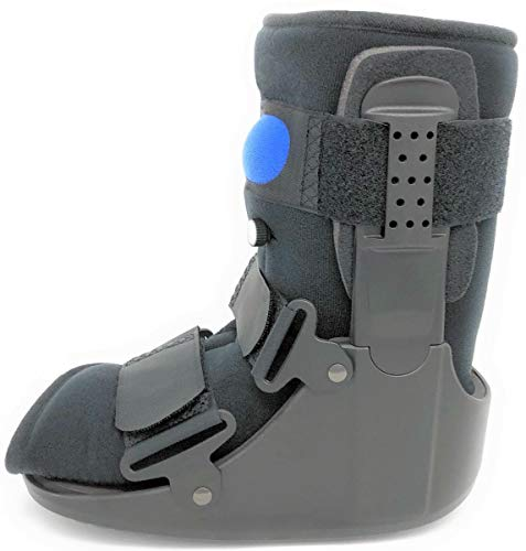 MB Medical Braces Low Top Air Fracture Boot (Medium, L0631 or L0648), Short Air CAM Walking Brace for Foot and Ankle, Black, Men's Shoe Size 7 1/2 - 10, Female Shoe Size 8 1/2 - 11 1/2