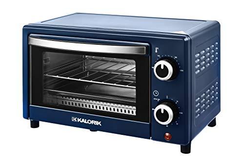Team Kalorik TKG OT 2025 BU 9 Liter Mini-Ofen mit Backblech, Grillrost und Krümelschublade (0-230°C), 900, 9 liters, metallic Blau