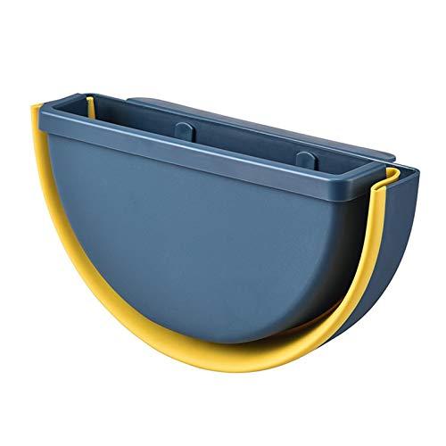 Adaap Cubo de basura plegable de gran capacidad para el hogar, oficina, cocina, dormitorio, baño, pared (azul marino)