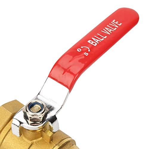 Válvula de bola para tubería, válvula de cierre ampliamente utilizada, temperatura normal, presión normal, latón para aplicaciones industriales para edificios industriales