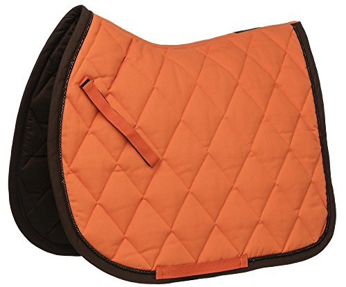 EQUITHEME Tapis Challenge - Couleurs - Orange/Choco, Taille Equipement Cheval - Poney
