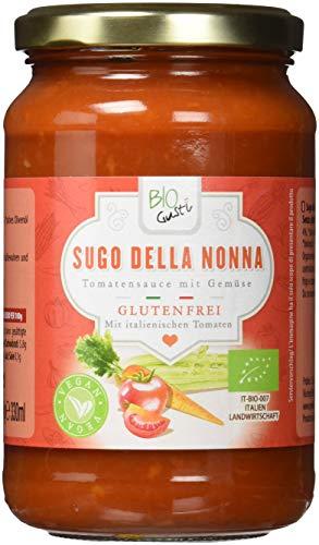Biogustí Sugo della Nonna - Tomatensauce mit Gemüse, 6er Pack (6 x 340 g)
