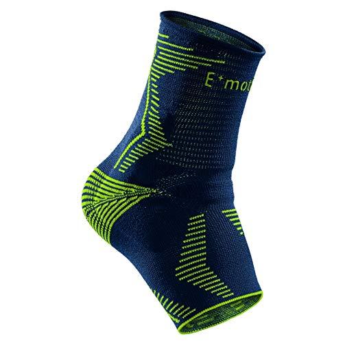 medi Levamed E⁺motion - Sprunggelenkbandage unisex | blau/grün | Größe 3 | Sportbandage für hohe Belastungen im Sport | Beidseitig tragbar