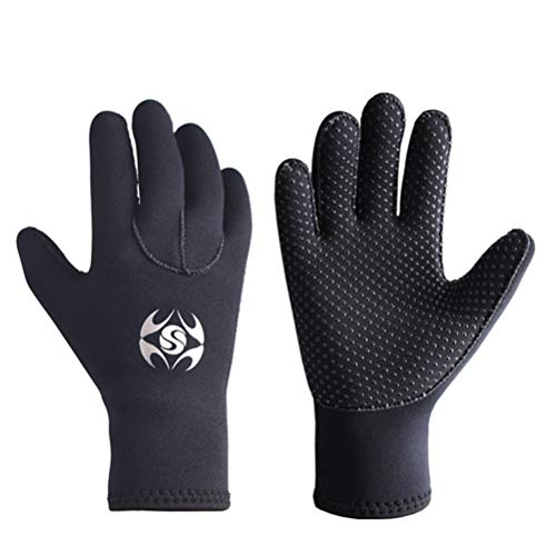 LIOOBO 1 Paar Unisex-Taucherhandschuhe Anti-Verschleiß-Rutsch-Handschuhe Schnorcheln Kratzfeste Handschuhe Schwarz Größe L