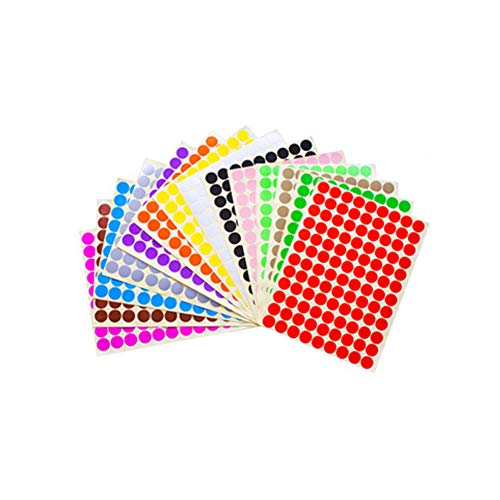 14 Sheets (1512 Pcs) Essential Oil Bottle Cap Labels Stickers Printable and Handwritten 16mm Round Blank Labels Stickers Top Label Stickers for Essential Oil Cap Assorted Color