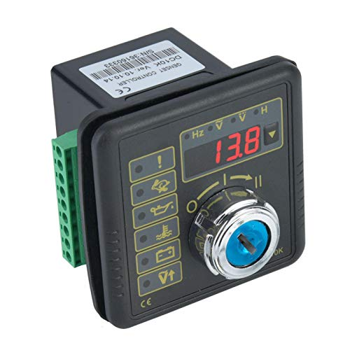 Controlador de generador de arranque manual de motor de 2W con chip de 32 bits estable a prueba de agua, 4 tubos digitales para generador automotriz