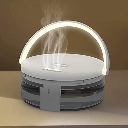 vfvfvf Ätherischer Öldiffusor mit Batterie drahtloser Diffusor Nachtlicht USB-Luftbefeuchter mit bunten LED-Leuchten Auto schließen ab