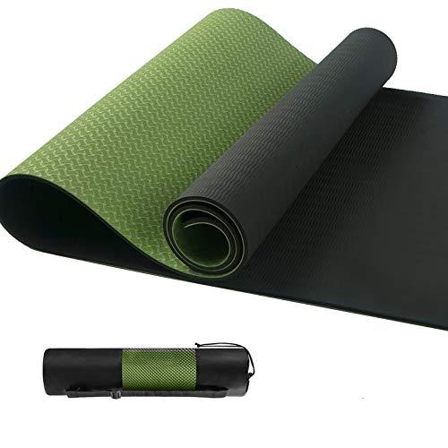 shoplease Tappetino Yoga, Tappetino Palestra Fitness con Legare la Corda, Tappetino Fitness Prime, Yoga Tappetino in TPE, Antiscivolo, Resistente, 183 x 61 x 0,6 cm