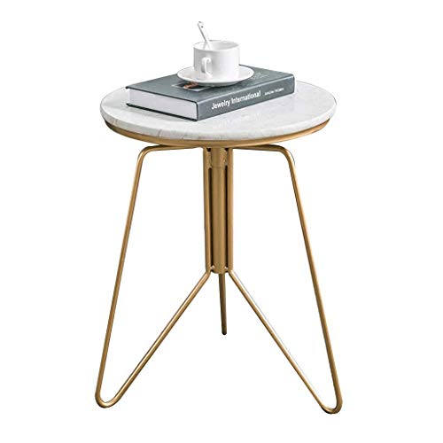XLEVE Small Coffee Table-Best Choice Products Faux Marble Modern Living Room Round Side End Accent Coffee Table Nightstand w/Metal Frame