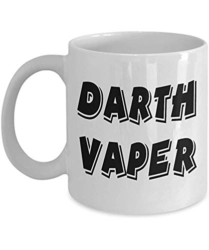 Taza de café de Darth Vaper Vape Vaping, divertido, taza, té, Navidad, papá, aniversario, día de la madre, papá, corazón, Papá Noel