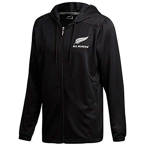 AFDLT 2019 All Black Rugby Jacket,Hombre Invierno Rugby Jersey,Casual Sudaderas,Respirable Capucha para