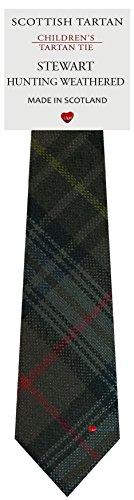I Luv Ltd Garçon Tout Cravate en Laine Tissé et Fabriqué en Ecosse à Stewart Hunting Weathered Tartan