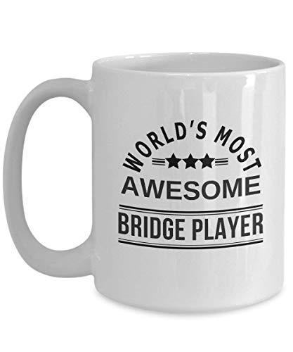 's Werelds meest Geweldige Bridge Player Beste Grappige Speel Brug Koffie Mok, Thee Cup Gift