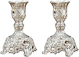 Castiçais de vela, suporte de vela para mesa, 2 peças, suportes de vela vintage, castiçal, suporte de vela de metal, supor...