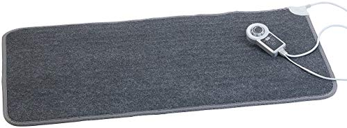 infactory Heizteppich: Beheizbare Fußboden-Matte, Vliesstoff, 105x55cm, 60 °C, 155 W (Fussbodenheizung)