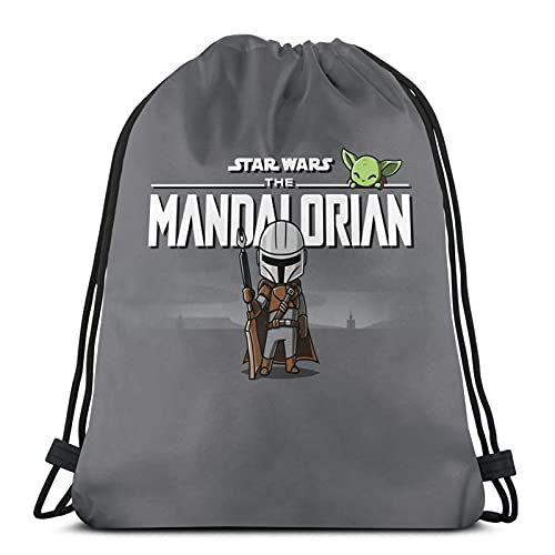 Mandalorian Unisex Boys Girls Teenager Drawstring BagSchool Backpack Rucksack Gym Bag Travel Pouch String