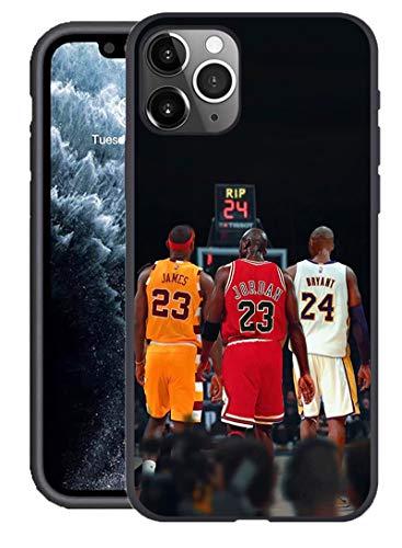 Kompatibel mit iPhone 11 Pro Max Hülle, Basketball Star Thema entworfen für iPhone 11 Pro Max Hülle 6,5 Zoll Cover (Lebron-Jordan-Kobe)