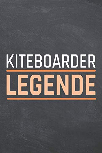 Kiteboarder Legende: Kiteboarder Punktraster Notizbuch, Notizheft oder Schreibheft - 110  Seiten - Büro Equipment & Zubehör - Lustiges Geschenk zu Weihnachten oder Geburtstag