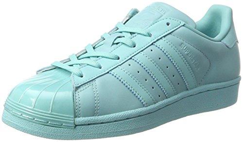 adidas Damen Superstar Glossy To Sneaker, Türkis (Easmin/Easmin/Cblack), 37 1/3 EU