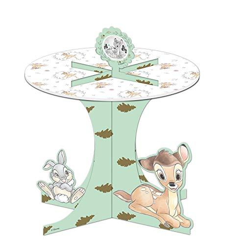 Procos 89046 - Cupcake Ständer, Disney Bambi Cutie, Premium, Rehkitz, Muffin Ständer, Tortenständer, Geburtstag, Mottoparty