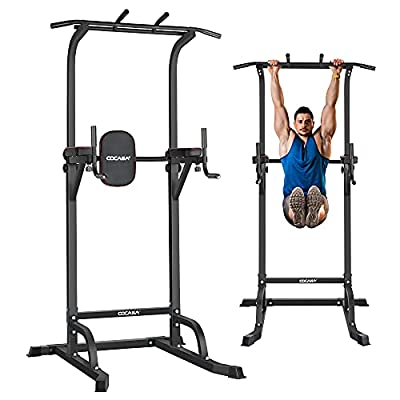 CDCASA Power Tower Dip Station Pull Up Bar Stan...