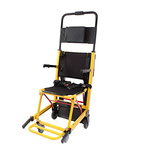 Mustbe Strong Batteriebetriebene Spur Treppenlift-Stuhl Hochleistungsnotfall Leichtes Falten Evakuierungs-Treppenstuhl, Tragfähigkeit 365 Lb