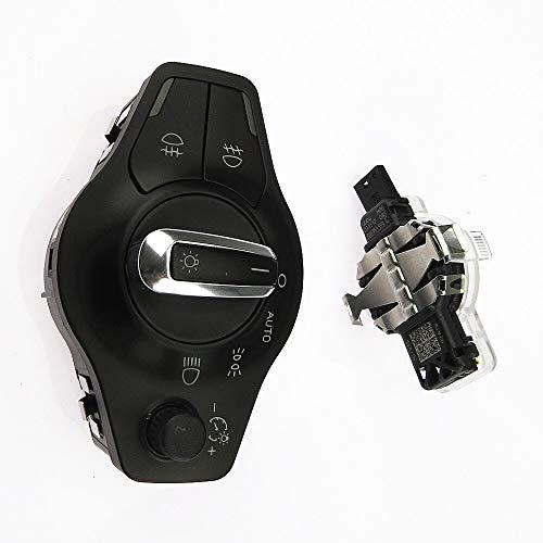 1 Unidades cromo Auto faro antiniebla interruptor + sensor de lluvia 8U0955559C 8K0941531AS para A4 A5 S5 Q5 B8 8K0 941 531AS