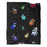 Among Us Limited Art Manta de regalo de franela, 150 x 200 cm, cómoda felpa que mantiene el calor. Se utiliza para varias fiestas en el sofá cama.