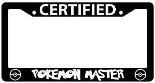 First Rober Certified Pokemon Master Black Metal License Plate Frame Pokemon -57