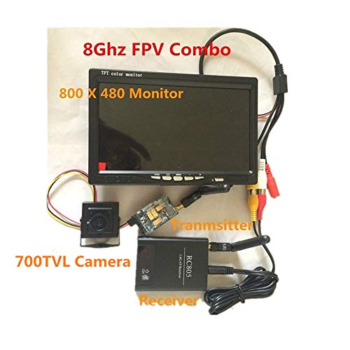 tesny RC FPV Combo 5.8Ghz FPV System with 5.8G 200mw AV Transmitter Receiver HD Monitor CCTV Camera for RC DJI Phantom