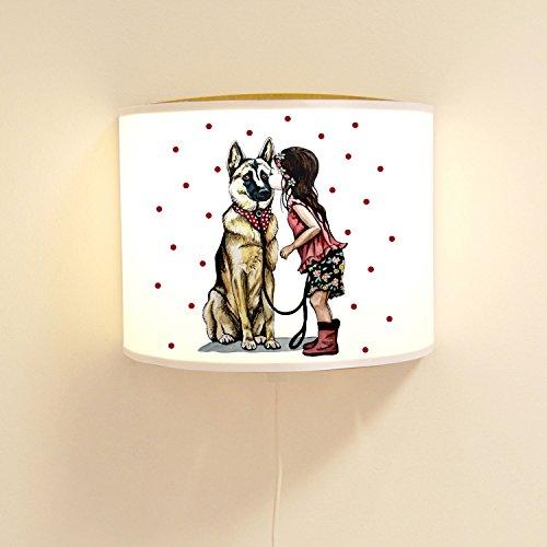 Wandtattoo-welt® Lampe Murale pour Enfant avec Motif Chien Ls78 Ilka parey