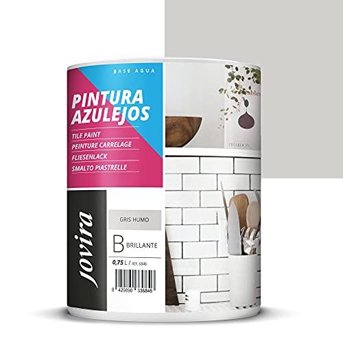 PINTURA PARA AZULEJOS AL AGUA Da una imagen nueva a tu cocina y baño. (750 ml, GRIS HUMO)