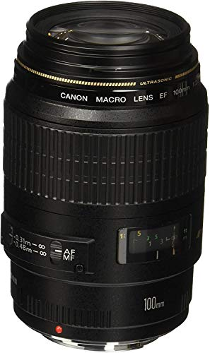 Canon EF 100mm f/2.8 Macro USM - Objetivo para Canon (Distancia Focal Fija 100mm, Apertura f/2.8-32,...
