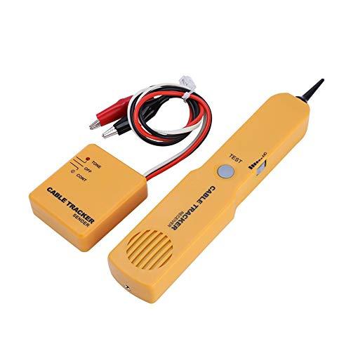 Mugast Kabeltester Wire Tracker,Portable RJ11 Netzwerkkabel Tester Draht Tracker Detector,Ton Linie Finder Kabelsucher Cable Tracker Ethernet LAN Netzwerk Prüfgerät 1 Sender und 1 Empfänger