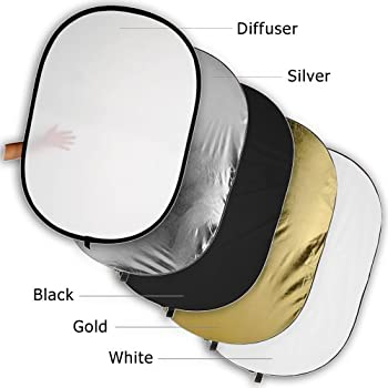 110cm 5-in-1 Photography Studio Photo Disc Collapsible Light Reflector by Ucland