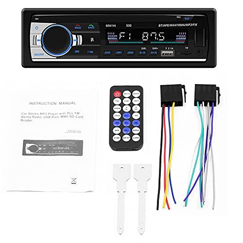 ZWMBAOR Reproductor Manos Libres Mp3 Bluetooth,Adopte Pantalla LCD HD,Radio Coche USB Dual Compatible con Carga Teléfono Móvil,con Visualización Hora Y Función Memoria Apagado,para Automóvil
